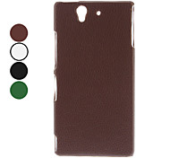 Solid Color litchi Pattern PC Hard Case for Sony L36h Xperia Z (Assorted Colors)