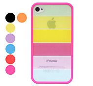 Rainbow Design Back Case for iPhone 4/4S(Assorted Color)