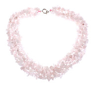 Natural Pink Crystal Gemstone Necklace