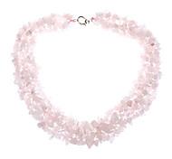 natürliche rosa Kristall Edelstein Halskette