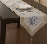 Classique toile bleue Chemins de table floral