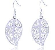 Earring Leaf Drop Earrings Jewelry Women Party / Daily Alloy Silver