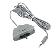 Dual Headset Headphone Microphone Converter Cable for Xbox 360