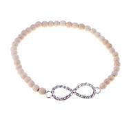 Lureme®Infinite Turqoise With Crystals Elastic Bracelet