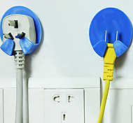 Power Plug Socket Hanger Function Hook 2Pc (Random Color)