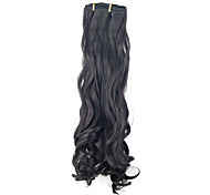 "22"" High Quality Synthetic 7Pcs Clip-in Deep Wavy Black Hair Extension"