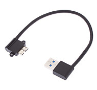 USB 3.0-Stecker auf Mini USB 3.0 90 Grad nach links Black (0,2 M)