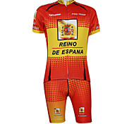 Kooplus2013 Championship Jersey Spain Polyester&Lycra&Elastic Fabric Cycling Suits(T-Shirt + Pants)