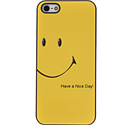 Yellow Smiling Face Pattern Aluminum Hard Case for iPhone 5/5S