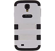 silicio color correspondiente estuche rígido, con soporte para Samsung i9500 Galaxy S4