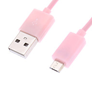 Rose câble micro USB pour Samsung Mobile Phone (1M)