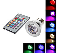 E26/E27 5W 1 LM RGB MR16 Remote-Controlled LED Spotlight AC 85-265 V