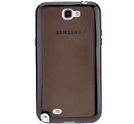 TPU et PC 2 en 1 étui rigide et protecteur d'écran de miroir pour Samsung Galaxy Note N7100 2 (couleurs assorties)