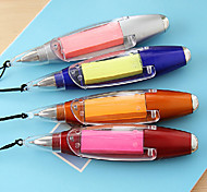 Self-Stick Note Flashlight Ballpoint Pen(Random Color)
