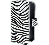 Zebra Pattern PU Leather Case with Magnetic Snap and Card Slot for Samsung Galaxy Grand DUOS I9082
