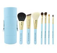 make-up pour vous 7pcs portable le maquillage bleu brosse ensemble
