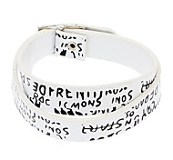 Z&X®  Pu Leather Letters Long Section Wrapped Retro Europe Bracelet