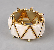 Colored Gems Rivet Triangle Bracelet