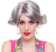 Capless High Quality Synthetic Grey Middle-aged Hair Wigs