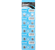 ACCELL AG4/LR626 1.5V Alkaline Cell Button Batteries (10-Piece Pack)