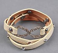 set coclea di otto multipla 3 strati braccialetto di colore fluorescente pu