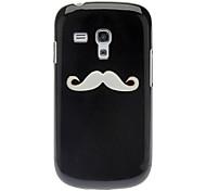 Subtil conception de moustache étui rigide pour Samsung Galaxy S3 Mini I8190