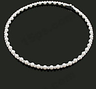 Aleación de lujo con diamantes de imitación collar de perlas (diámetro de 14 cm)