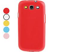 Желе Цвет ТПУ Футляр для Samsung I9300 Galaxy S3 (разных цветов)