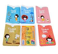 Cookies Mädchen Muster Kreditkarte Ganzkörper-Fall (gelegentliche Farbe)