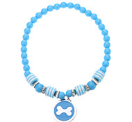 Dog Necklaces - S / M / L - Spring/Fall - Blue / Pink Plastic