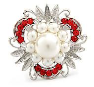Pearl Flower Shape Brooch(Random Color)