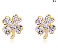 Lureme®Lucky Leaf Stud Earrings