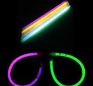 DIY Halloween Round Glasses with 10PCS Noctilucent Sticks(Random Color)