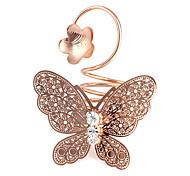 Borboleta Flor Forma anéis grandes (cor aleatória)