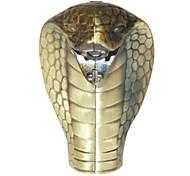 King Cobra Shaped Windproof Blue Frame Butane Lighter (Random Color)