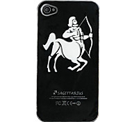 New Sense Sagittarius Design LED Flash Light Color Changing Hard Case for iPhone 5
