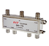 1 to 6 Coaxial TV Cable TAP Direction Coupler (5-1000Mhz)