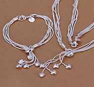 Green copper Taiji hanging five heart piece LKNSPCS009