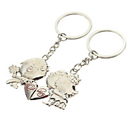 A Pair Kiss Boy & Girl Style Lovers Keychains