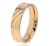 Lureme®Men's Golden Carve Pattern Stainless Steel Ring(Assorted Size)