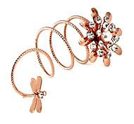 Fleur Libellule anneaux de spirale (couleur aléatoire)