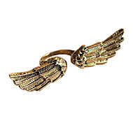 Korean Fashion Korean Version Of The Retro Bronze Angel Wings Ring