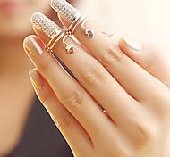 Women's Fashion Flower Finger Nail Ring(Random Color)