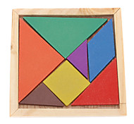 Kid's 7pcs Colorful Board Tangram IQ Puzzle Education Kit Toy