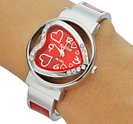Women's Diamante Heart-shaped Dial Alloy Band Bracelet Watch (Assorted Colors) Cool Watches Unique Watches