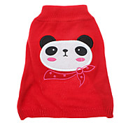 Cute Panda with Scarf Pattern Sweater for Pets Dogs (Assorted Sizes)