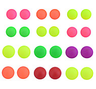 Korean Sweet Candy Colors Dull Polish Round Stud Earrings Set(12 Pairs Per Set)Random color