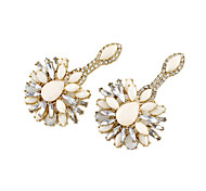Korea Style Flower Gem Earrings