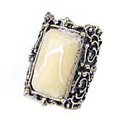 Korean Jewelry Retro Big Gem Ring