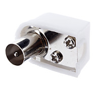 TV Coaxial Welding-Free Adapter Male Nickel-Plated OD6.5mm for CCTV